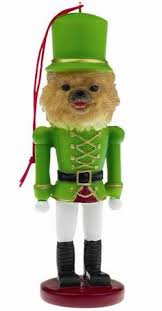 fawn and white chihuahua soldier tree ornament