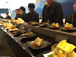 comi cuisine inside the paddock tent where the rich do the singapore grand