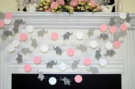 Elephant Decorations Elephant Baby Shower Decor Elephant Garland Elephant Baby Shower
