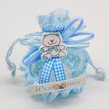 boy baby shower favors blue boy baby brithday gift bags candy box fruit basket baby shower