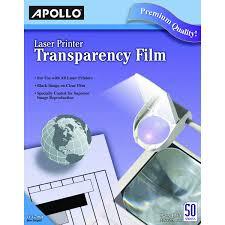 amazon com apollo laser jet printer and copier transparency film