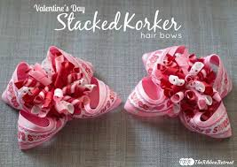 hair bow center day stacked korker hair bows the ribbon retreat