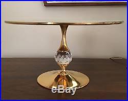 Crystal Pedestal Cake Stand Albarello Swarovski Crystal Pedestal Cake Stand Plate Signed Rare