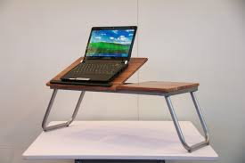 fancy convertible laptop desk with folding base as multi purpose
