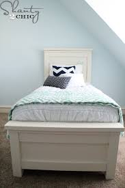 How To Build A Platform Bed Frame With Drawers by Diy Twin Storage Bed Shanty 2 Chic