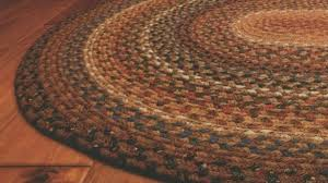 Small Area Rugs Pumpkin Pie Oval Cotton Braided Rug 8x10 Primitive Quilt Shop