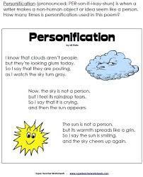 personification classroom pinterest poem figurative