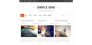 simple grid blogger template download free blogspot theme