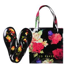 flip flop bag ted baker print small icon bag with flip flops multi womens
