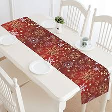 gold christmas table runner xia home fashions saint nick printed burlap christmas table runner
