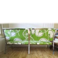 hand crafted sofa bench or waiting room couch in retro dandelion