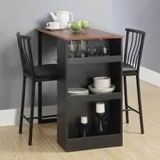 small kitchen pub table sets simple living 5 piece tobey compact round dining set walnut black