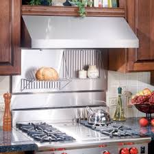 kitchen with stainless steel backsplash stove backsplash ideas on broan stainless steel backsplash