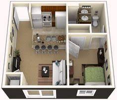 Efficiency Apartment Ideas Planos De Apartamentos Pequeños De Un Dormitorio Square Feet