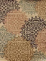 amazon com new city contemporary brown and beige modern floral