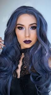weave hairstyles with purple tips win your hairs adorning stares by coloring them blue hairstyles
