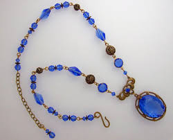 blue crystal necklace vintage images Welcome to beadwitched jewelry jpg