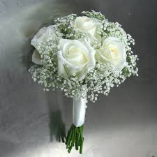 wedding flowers ottawa white roses and baby s breath bridal bouquet w flowers ottawa