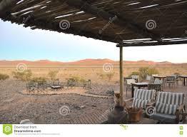 Outdoor Sitting Area Outdoor Sitting Area With A Desert Landscape Stock Photo Image