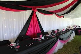 plastic table covers for weddings pink and black table decorations photograph plastic table