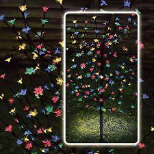 4ft 120 led solar powered blossom bonsai tree outdoor garden
