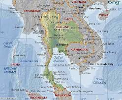 map of thailand of thailand