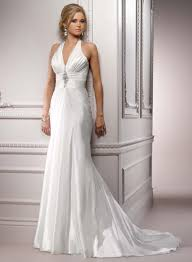 satin wedding dress with court train sang maestro