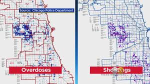 Chicago Crime Maps by Overdose Analysis On West Side Leads Police To Drug And Gun