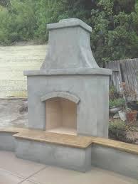 fireplace simple prefabricated outdoor fireplace design