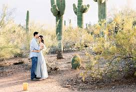 Scottsdale Az Botanical Gardens Tulli David S Desert Botanical Garden Engagement Session