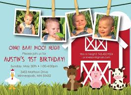 First Birthday Invitation Cards For Boys Farm Friends First Birthday Custom Photo By Kimnelsoncreative