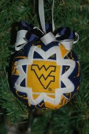 west virginia mountaineers 12 pack team logo mini ornaments wvu