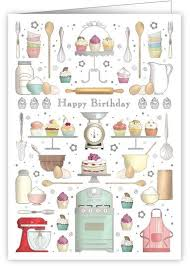 baking birthday cake happy birthday card karenza paperie