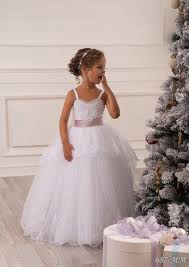 heirloom communion dresses stunning lace appliques sleeveless spaghetti straps ruffles