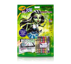 color alive monster high crayola