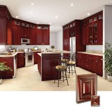 stone countertops cherry wood cabinets kitchen lighting flooring