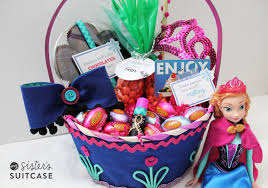 easter basket gifts frozen easter basket my s suitcase packed with