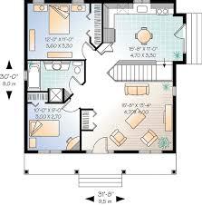 two bedroom house 800 square 2 bedrooms 1 batrooms on 1 levels floor plan