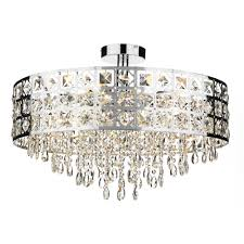 Chrome Ceiling Lights Uk Decorative Modern Flush Ceiling Light With Chrome Decoration