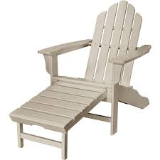 Plastic Ottoman Hanover Sand All Weather Plastic Outdoor Adirondack Chair With