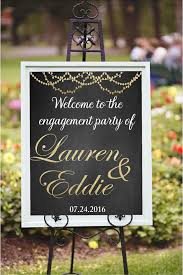 Engagement Party Decorations At Home Engagement Party Decor Diy Printable Welcome By Chalkboarddesign