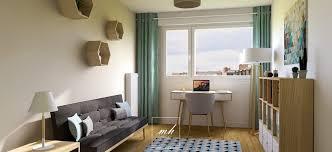 bureau dans une chambre deco chambre bureau un salon vaste sol en bois chaise berante