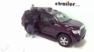 roof rack for toyota sequoia review of the yakima loadwarrior roof cargo basket on a 2012