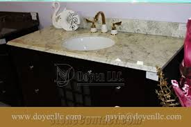 andromeda white granite bathroom vanity top sink from china