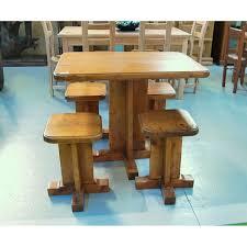 taburetes de pino 140 mesa pino y cuatro taburetes