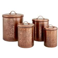 copper kitchen canister sets metal kitchen canisters jars you ll wayfair