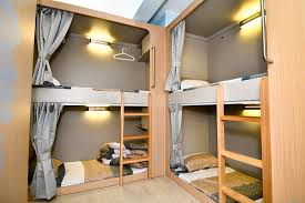 2 Bunk Beds Check Out This Awesome Listing On Airbnb Stylish Hostel Bunk