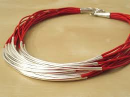 red leather necklace images Indican jpg