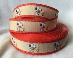 snoopy ribbon snoopy ribbon grosgrain ribbon ribbon by girafficcrafts my