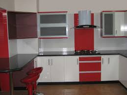 modular kitchen designs red white kitchen design ideas
